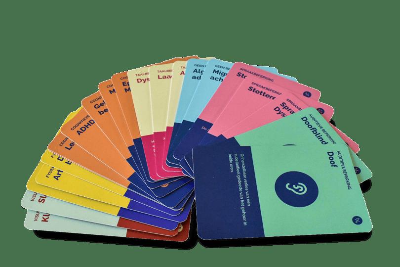 kaarten van het spel 'Denken in beperkingen'